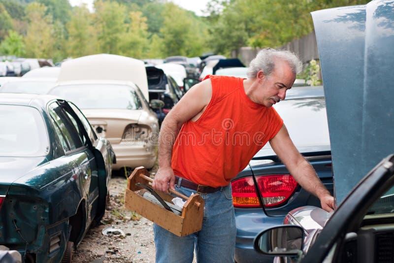Backyard Mechanic Junk Yard Shopping Stock Photo