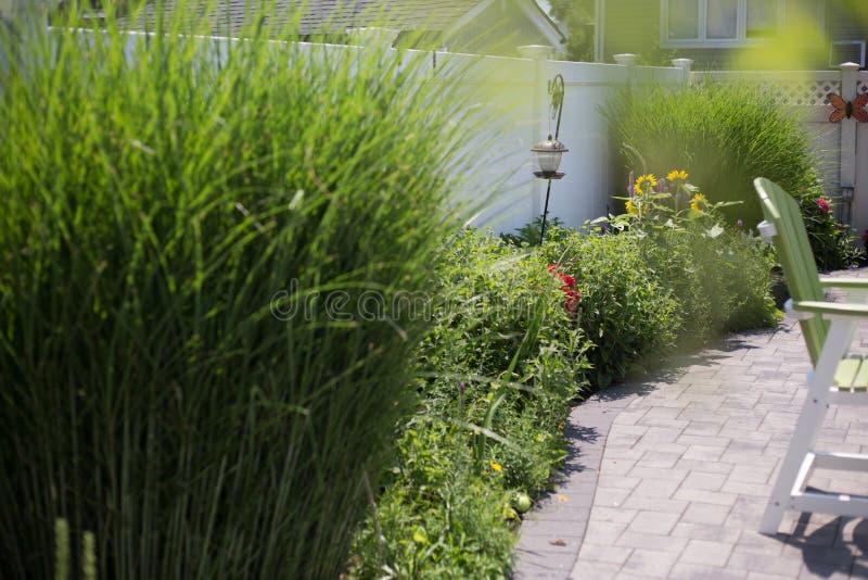 Backyard outdoor patio stock image