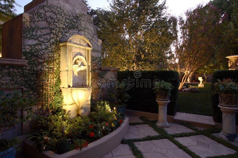 Download Backyard Pool House stock photo. Image of bush, europe - 4576708