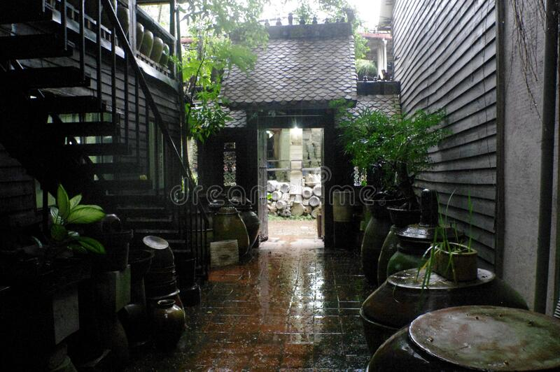 Backyard On A Rainy Day Free Public Domain Cc0 Image