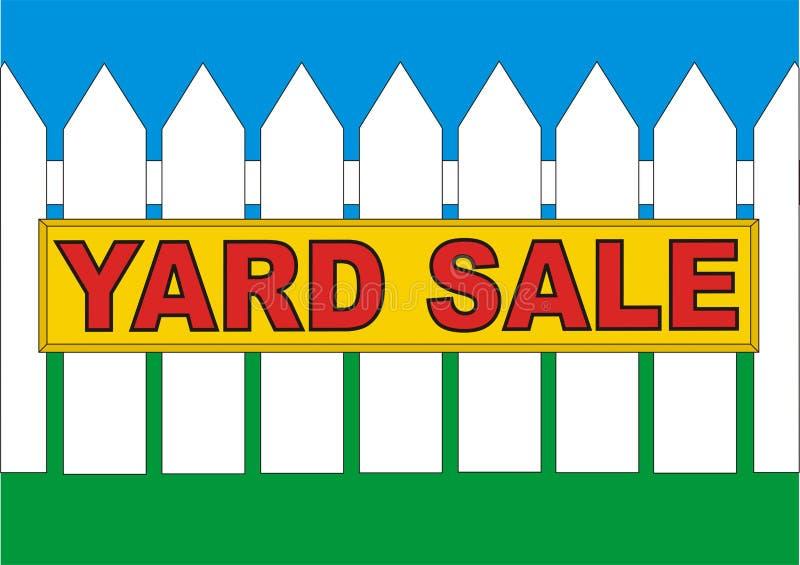 BackYard Sale Yellow royalty free stock photo