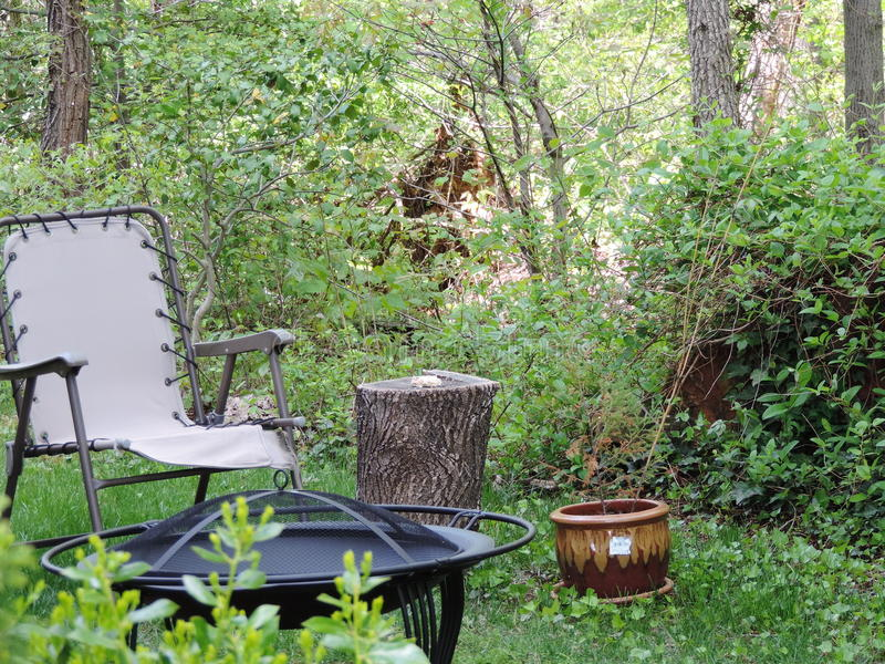 Backyard Sanctuary. Another view of our backyard sanctuary royalty free stock photography