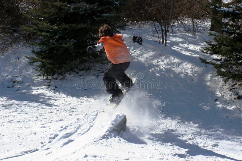 Download Backyard Snowboarding Stock Image. Image Of Snow, Ramp   3124813