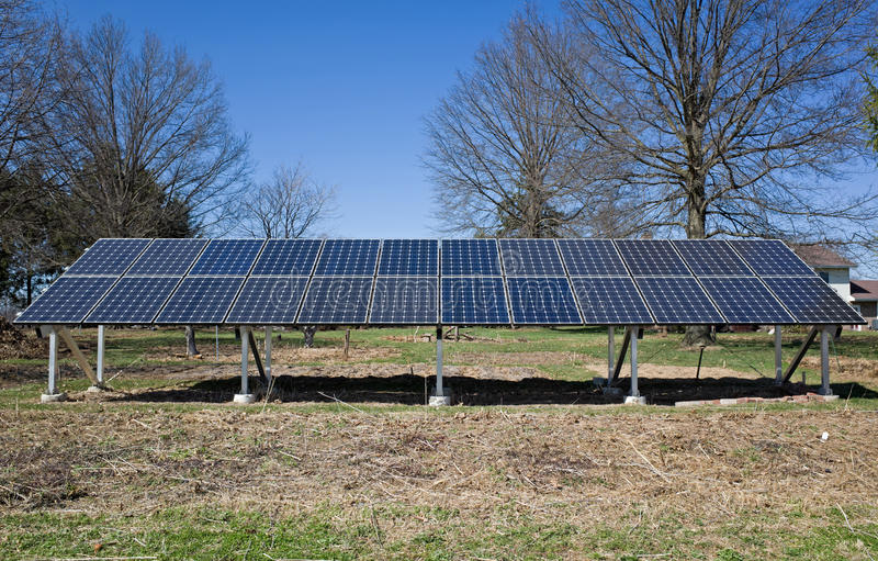 Download Backyard Solar Panels Stock Photo. Image Of Pollution   39566454