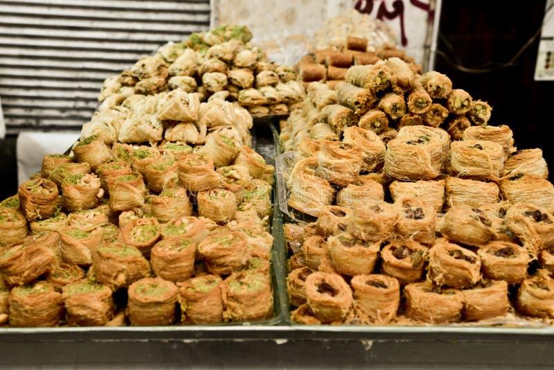 Baclavale, marché, Jérusalem, Israël photo libre de droits
