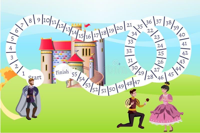 Baclground de jeu de princesse illustration de vecteur