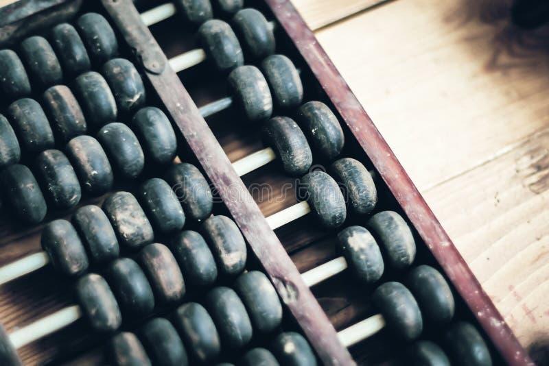 ?baco velho Calculadora tradicional chinesa Projeto de conceito financeiro da imagem foto de stock