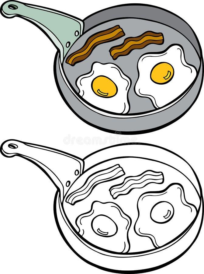 baconägg royaltyfri illustrationer