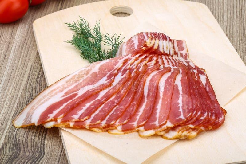 Bacon cortado foto de stock royalty free