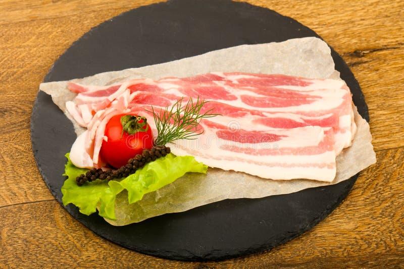 Bacon cru imagens de stock