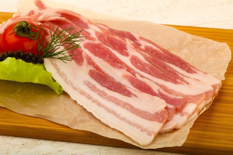 Bacon cru imagens de stock royalty free