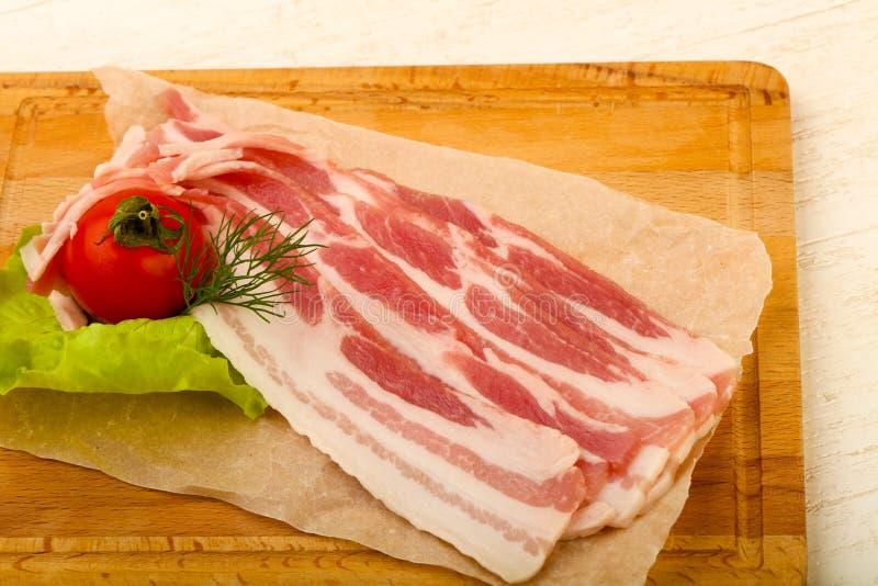 Bacon cru fotos de stock