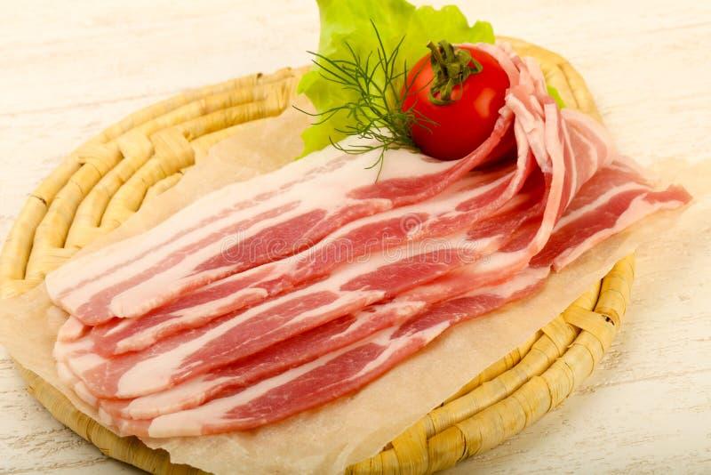 Bacon cru fotografia de stock royalty free