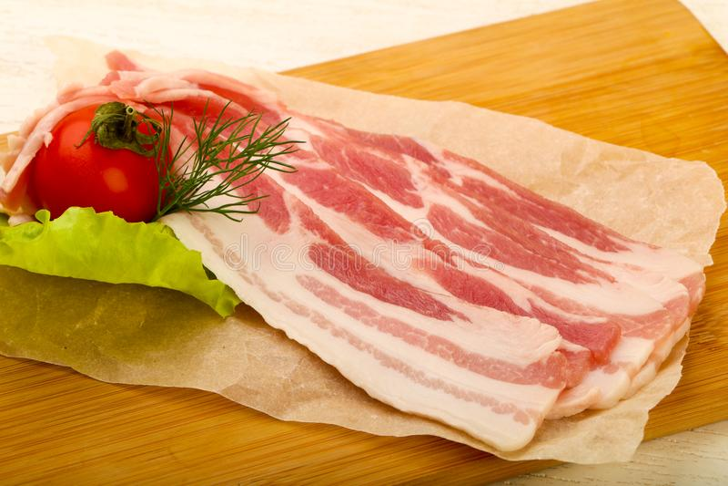 Bacon cru fotos de stock royalty free