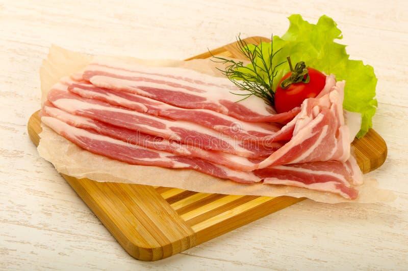 Bacon cru fotografia de stock