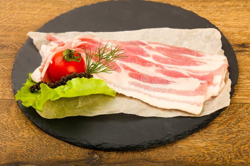 Bacon cru imagem de stock