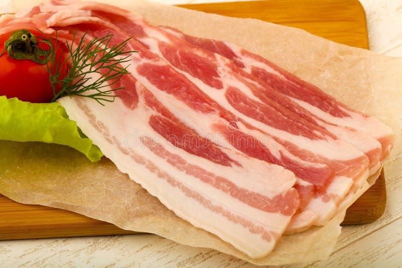 Bacon cru imagem de stock royalty free