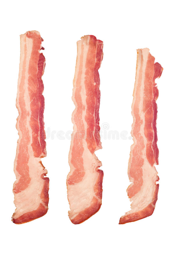 Bacon cru foto de stock