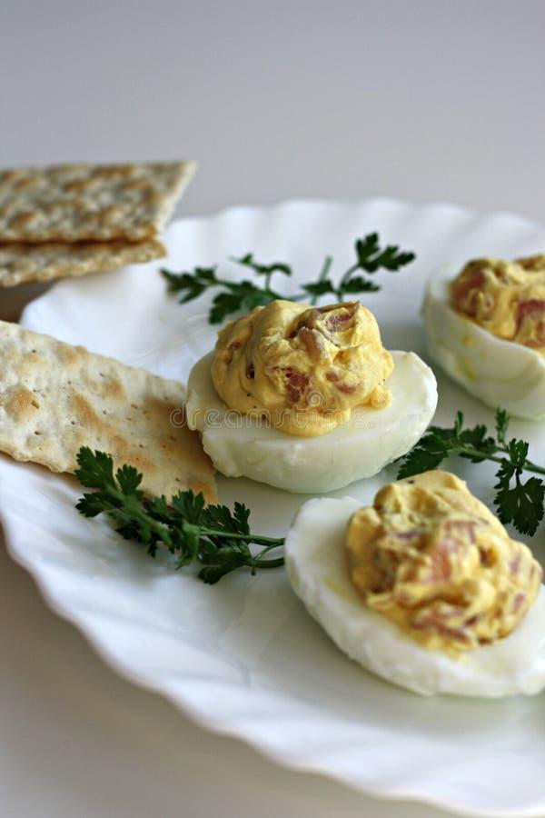 Bacon Deviled Eggs stock photos