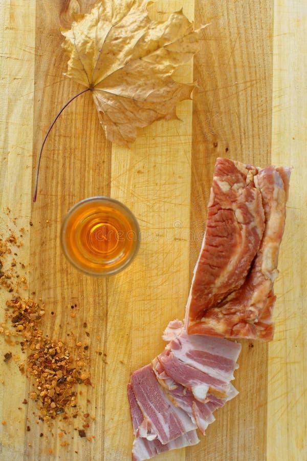 Bacon e brandy immagini stock libere da diritti