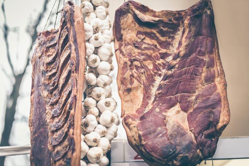 Bacon een knoflook royalty-vrije stock foto's