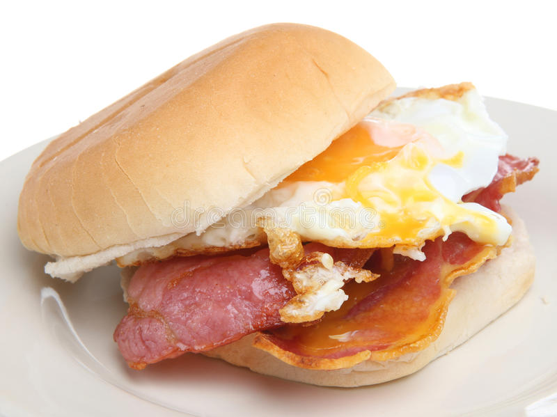 Bacon & Egg Breakfast Roll royalty free stock photography