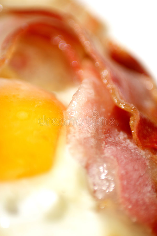 Bacon and eggs. Traditional British breakfast bacon and eggs stock photography