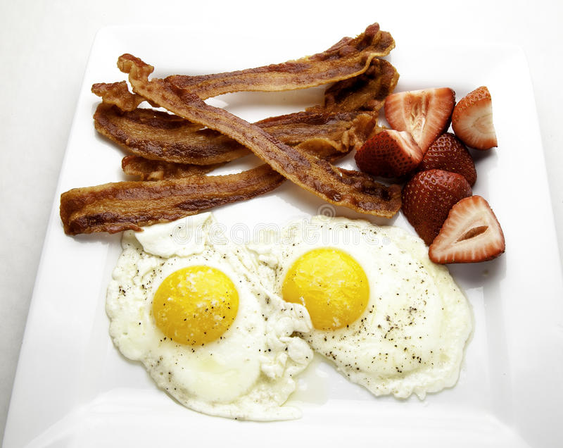 Download Bacon and Eggs stock image. Image of berries, fried, strawberries - 39506811