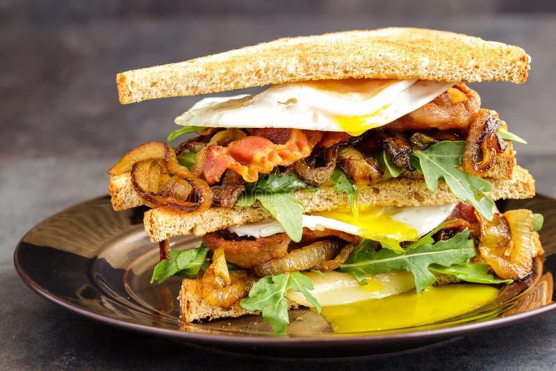 Bacon en Ei Sanwich royalty-vrije stock fotografie