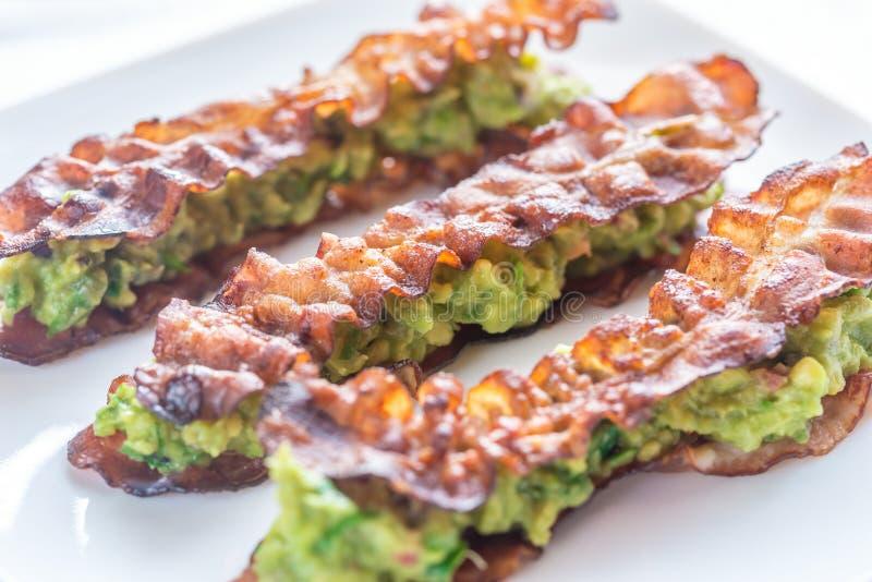 Bacon en guacamole sammies royalty-vrije stock foto's