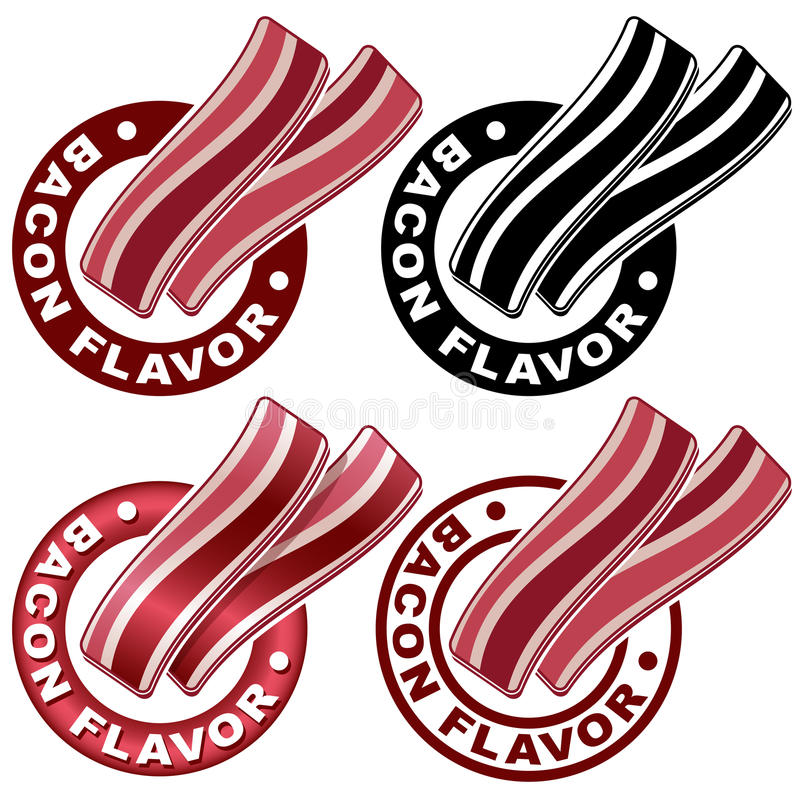 Download Bacon Flavor Seal / Mark stock vector. Image of meat - 28627084