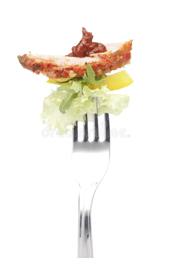 Download A bacon on fork stock image. Image of nobody, preserved - 22554955