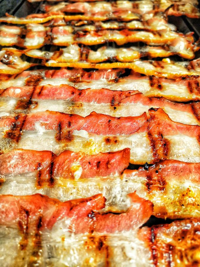 Bacon grelhado foto de stock royalty free