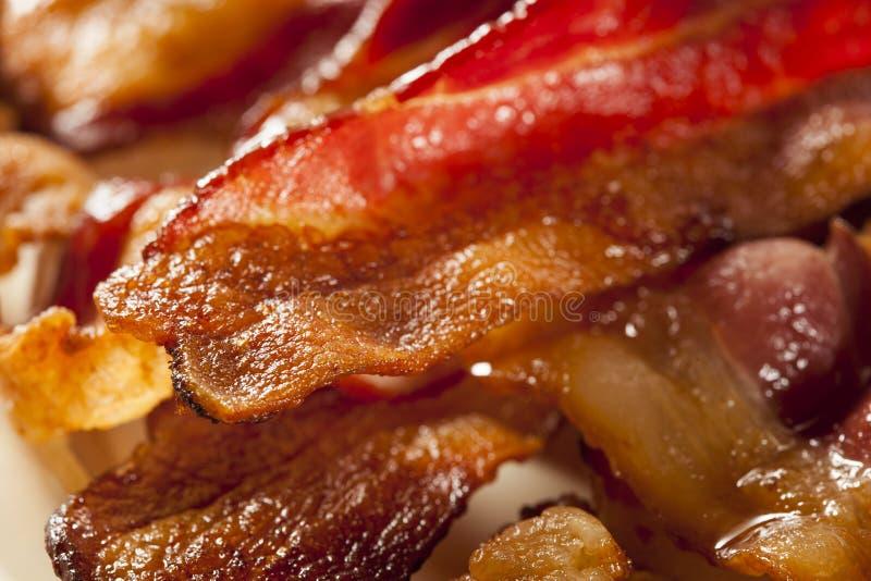 Bacon insalubre orgânico friável foto de stock royalty free