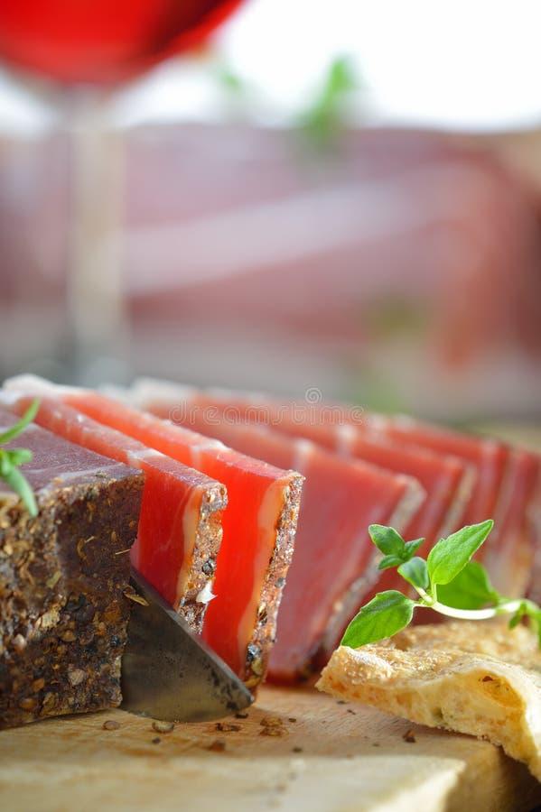 Bacon italiano imagens de stock