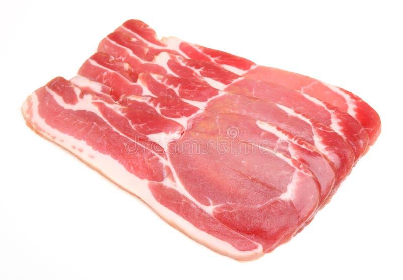 Bacon para trás Seco-curado cru fotos de stock royalty free