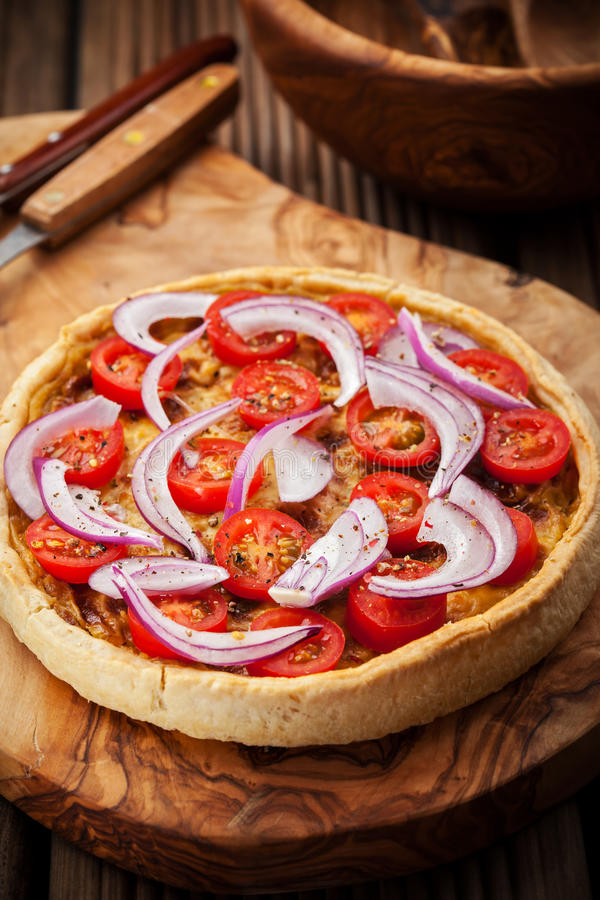 Bacon quiche stock photography