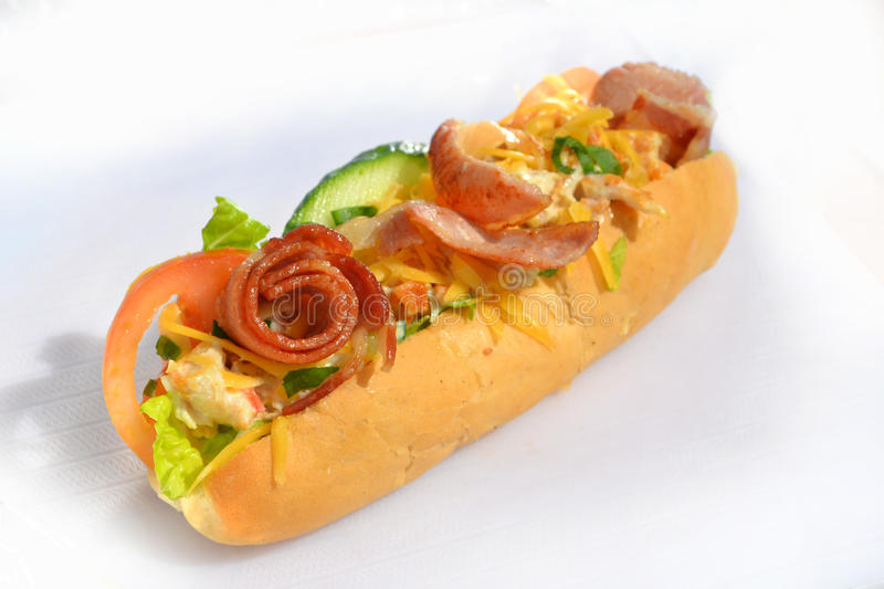 Bacon roll stock photography