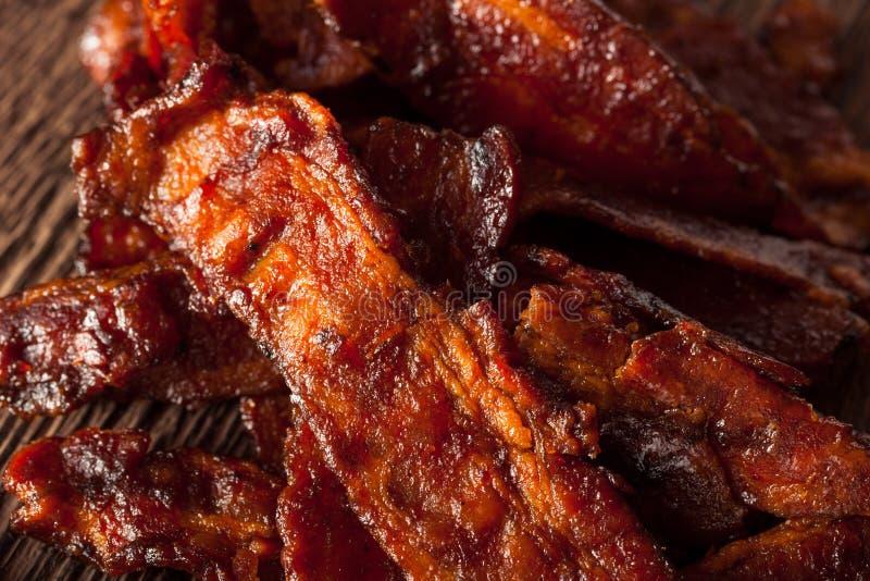 Bacon secado caseiro do assado espasmódico imagens de stock