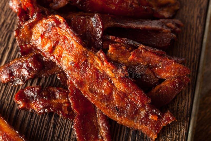 Bacon secado caseiro do assado espasmódico foto de stock royalty free