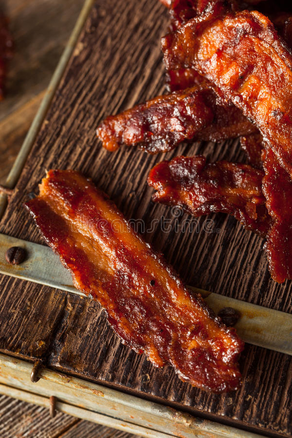 Bacon secado caseiro do assado espasmódico imagem de stock royalty free
