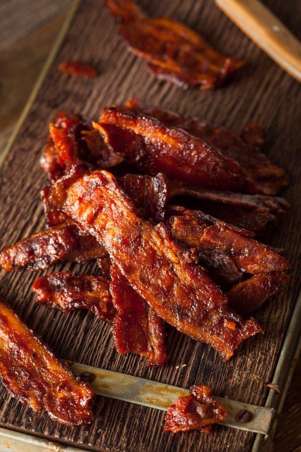 Bacon secado caseiro do assado espasmódico imagem de stock