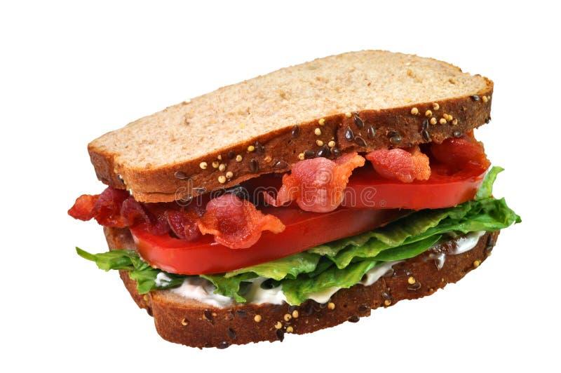 Bacon, Sla, en de Sandwich van de Tomaat stock foto's