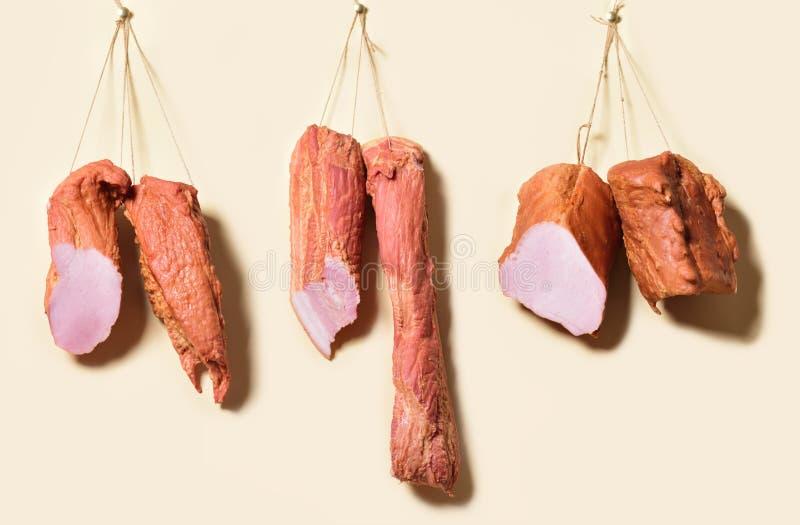 Bacon som hänger på repen royaltyfria bilder
