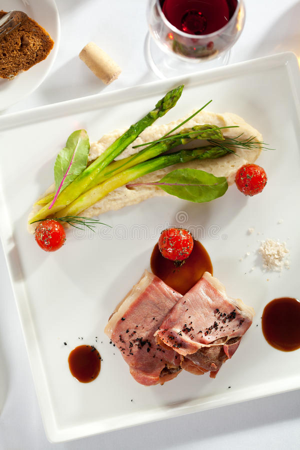 Bacon Verpakt Varkensvlees royalty-vrije stock foto