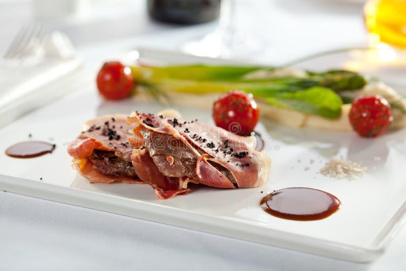 Bacon Verpakt Varkensvlees royalty-vrije stock afbeelding