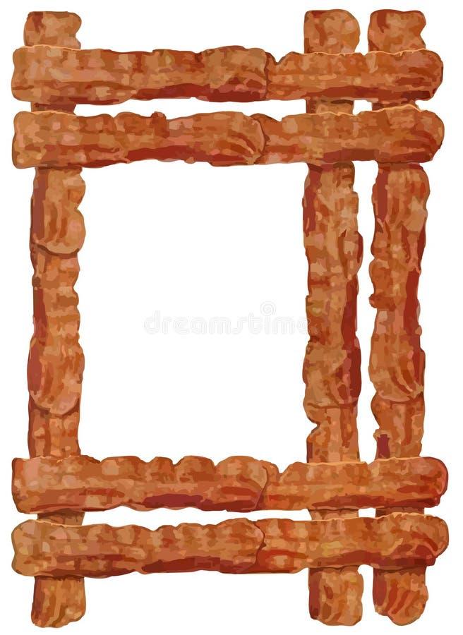 Bacongräns vektor illustrationer