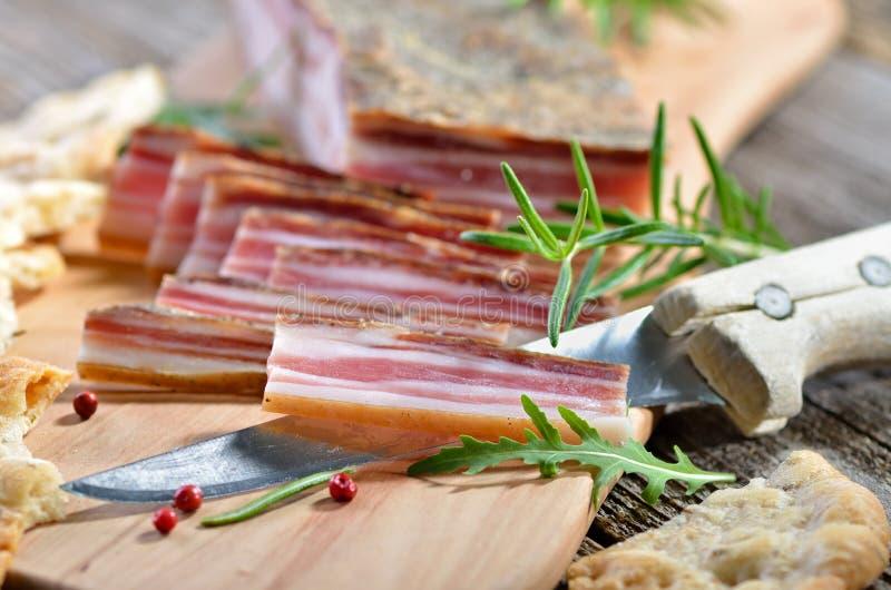 baconmellanmål royaltyfri fotografi