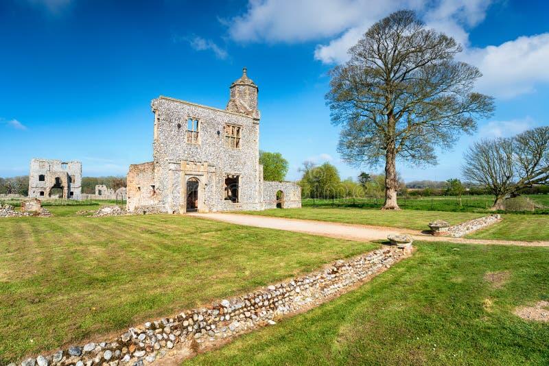 Baconsthorpe城堡废墟在诺福克 库存图片