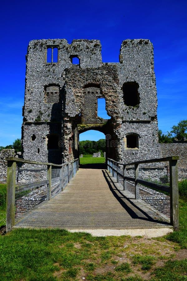 Baconsthorpe城堡,诺福克,英国 库存照片